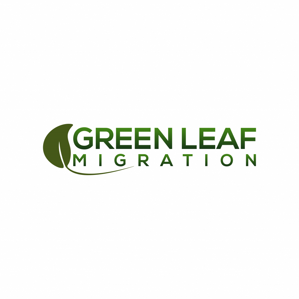 Green Leaf Migration Logo