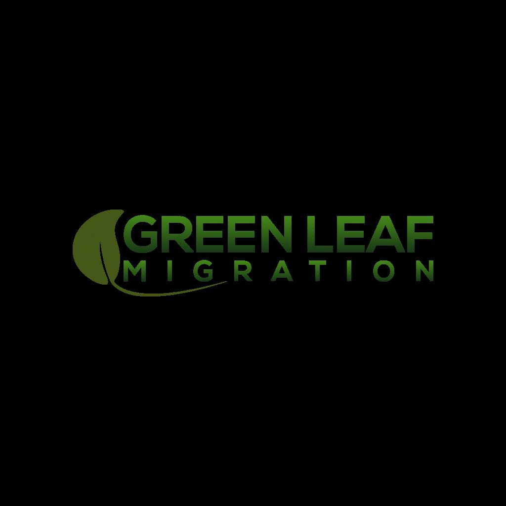 Green Leaf Migration Logo